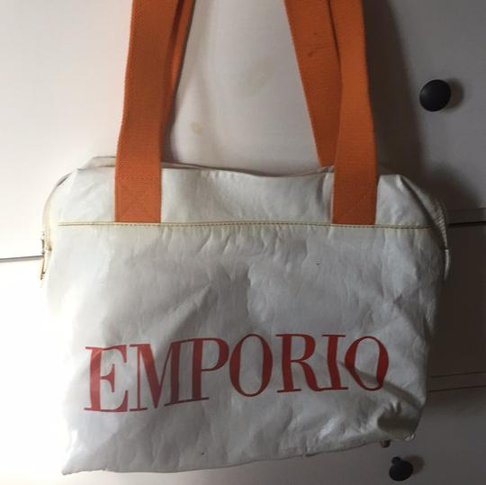 Emporio Armani white Travel Bag Image 3