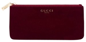 Gucci Beauty Red Cosmetic Pouch Makeup Bag