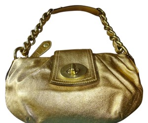 Coach Limited Edition Rare Turnlock Chain Strap Baguette
