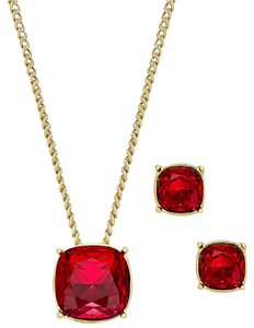 Givenchy Swarovski Element Colored Crystal Pendant Necklace and Earrings Set