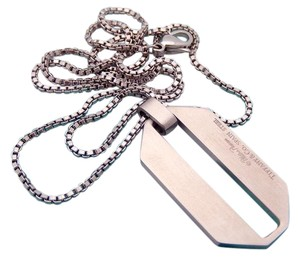 Tiffany & Co. Tiffany Stainless Steel Paloma Picasso Zellige Pendant 20