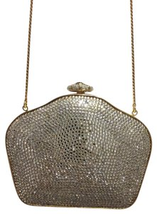 Judith Leiber Comb GOLD AND SWAROWSKY Clutch