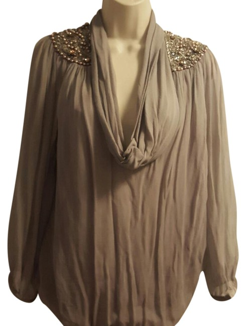 Item - Diamond and Pearl Silk Blouse Size 8 (M)