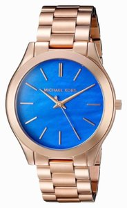 Michael Kors Michael Kors rose gold blue mother of pearl face watch