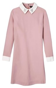 Victoria Beckham Rabbit Collar Sheath Office Polished Dress