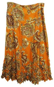 Moschino Maxi Skirt Orange