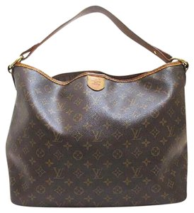 Louis Vuitton Leather Monogram Luxury European Hobo Bag