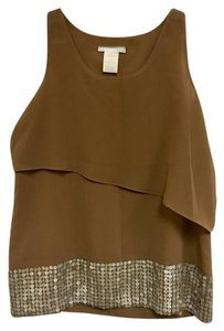 MM Couture Sleeveless Embellished Top Beige
