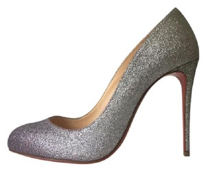 Christian Louboutin Dorissima Green Degrade Glitter Silver Pumps