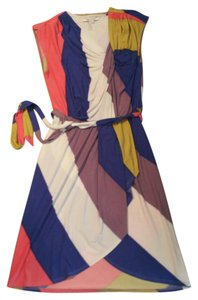 Max and Cleo short dress Multi-colored: mustard, royal blue, purple, ivory, pink Wrap Stretchy Tie Belt on Tradesy