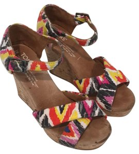 TOMS multi (pink, gray, yellow, red) Wedges