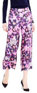 J.Crew Floral Silk Trousers Evening Wide Leg Pants Pink