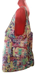 Coach Grocery Tote in Multi, Pink, Purple, Yellow, Green