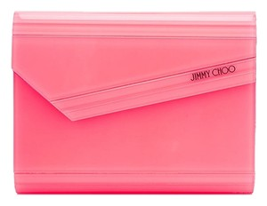Jimmy Choo Candy Cross Neon Geranium Clutch