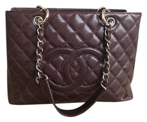 Chanel Gst Caviar Leather Quilted Shoulder Bag