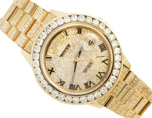 Rolex Excellent 18K Yellow Gold Rolex 18038 Day-Date Presidential Watch 14Ct