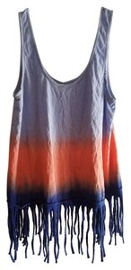 Xhilaration Top Blue & Coral