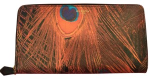 Givenchy Givenchy long peacock-feather wallet.