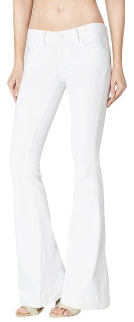 Item - White Distressed Fiona Flare Leg Jeans Size 26 (2, XS)