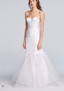 David's Bridal A-line Silhouette Slip Wedding Dress