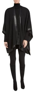 St. John Leather Wool Cape