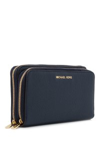 Michael Kors NEW Michael Kors Leather Double Zip phone LARGE Wallet wristlet clutch