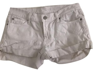 7 For All Mankind Cuffed Shorts white