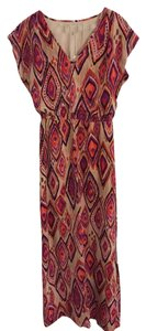 Orange & Fuchsia Multi Maxi Dress by Trina Turk