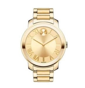 Movado Women's Swiss Bold Gold Ion-Plated Stainless Steel Bracelet Watch 39mm