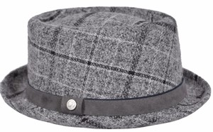 Robert Graham NEW Robert Graham Men's $128 Plaid Tweed Leather Trim Fedora Hat XL