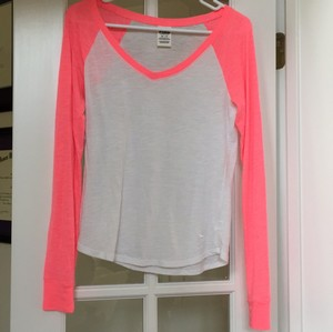 Victoria's Secret T Shirt White and Pink