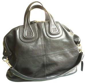 Givenchy Nightingale Lambskin Black Brass Tote