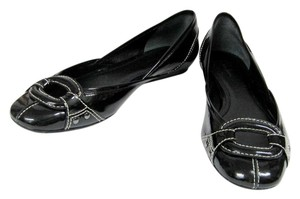 Cole Haan Leather Patent Leather Black Flats
