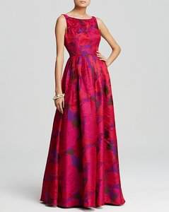 Adrianna Papell Floral Jacquard Sleeveless Formal Ball Gown Dress