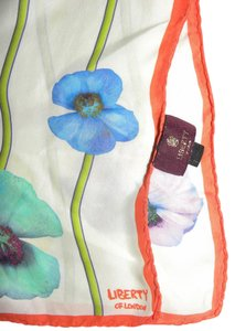 Liberty of London Vintage Liberty of London All Silk POPPIES Scarf Italy