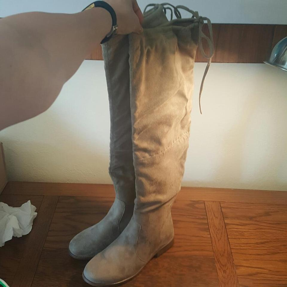 3ac7853ef48 Journee Collection Taupe Mount Over The Knee Boots Booties Size US ...