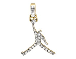 Other Jumpman Jordan Logo Genuine Diamond 1 Inch Pendant Charm 0.50ct