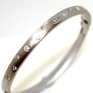 Other 14K WG BANGLE WITH BRILLIANT CUT DIAMONDS