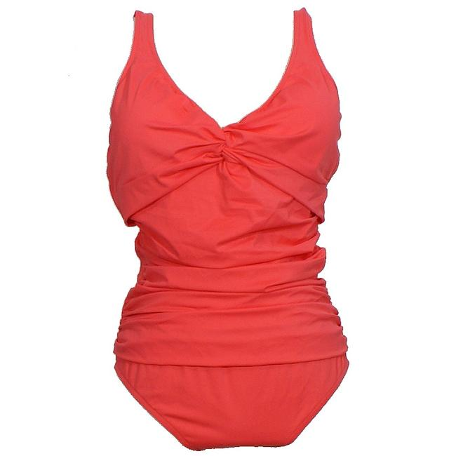 Item - Rose Pink Twist Front Ruched Tummy Control Swimsuit One-piece Bathing Suit Size 20 (Plus 1x)