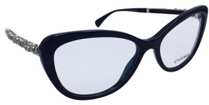 Chanel Distant Black and Silver Blooming Bijou Cat Eye Sunglasses 3345 54