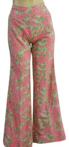 Lilly Pulitzer Vintage Pulizter Straight Pants Pink Green