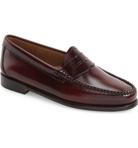 G.H. Bass & Co. Penny Loafers Leather Loafers Cordovan Flats