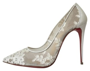 Christian Louboutin Follies 100 Pigalle Follies Lace So Kate White Pumps