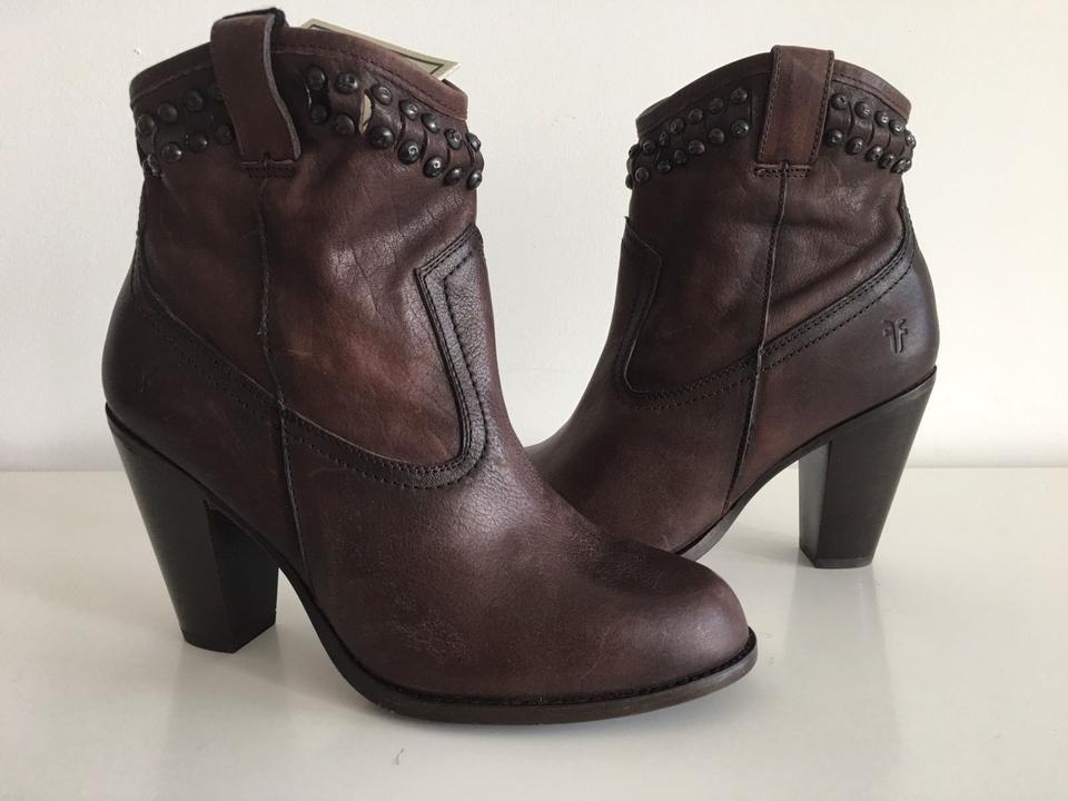 Frye Stud Dark Brown Jenny Cut Stud Frye Boots/Booties 9cab71