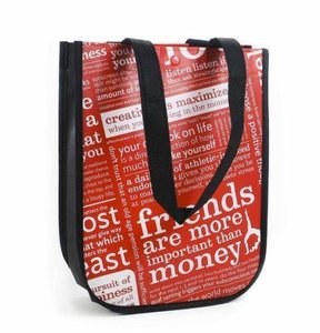 Lululemon Reusable Eco Tote in Red/White