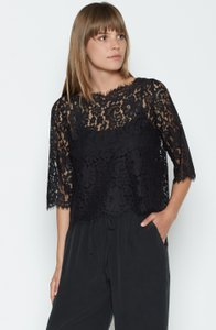 Joie Lace Versatile Going Out Dolce & Gabbana Top Caviar (Black)