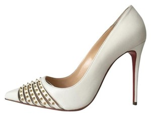 Christian Louboutin Bareta Barretta Spiked Pigalle Follies So Kate White Pumps