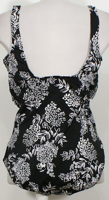 Swim Solutions Twist Front Queen's Lace Floral Ruched Tummy Control Swimsuit 20 Image 1