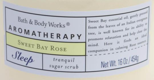 Bath and Body Works Aromatherapy Sweet Bay Rose Tranquil Sugar Scrub 16oz/454g *RARE*