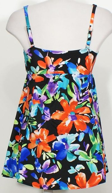 Swim Solutions Garden Party Floral Bow Front Swimdress Tummy Control Swimsuit 8 Image 1